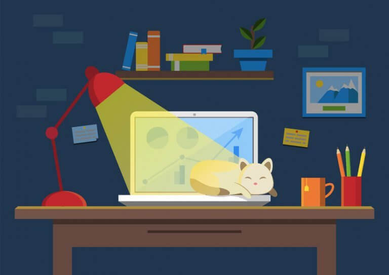 סביבת עבודה מודרנית מהבית