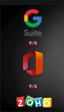 Google G Suite מול Microsoft 365 ו- Zoho